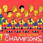 La caricatura de la selección española de fútbol en versión 'simpson' fue obra de un aficionado