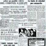 Una portada del 7 de abril del año 74 destacaba los mismos titulares que hoy