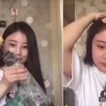 Una china se queda calva por comerse una mazorca con un taladro