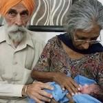 Una mujer da a luz a su primer hijo a los 72 años en India