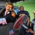 Los guiñoles kenianos parodian a Trump en defensa de Obama
