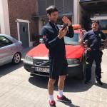Djokovic detiene su coche para enseñar un parque de bomberos a su hijo por videoconferencia