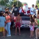 Papá Noel, apedreado en Brasil al quedarse sin caramelos