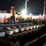 Increíble: 1.500 trabajadores chinos construyen una estación en un día