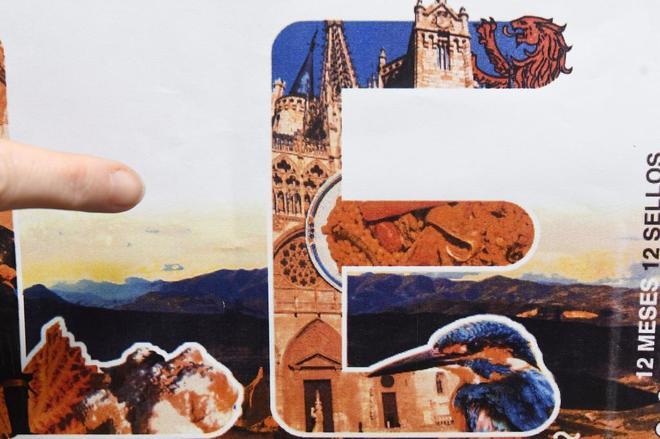 Detalle del sello de León con la Catedral de Burgos
