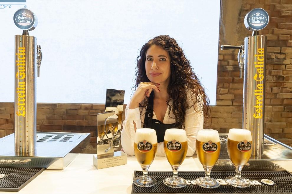 Davinia Martínez, mejor tiradora de cerveza de España en 2018